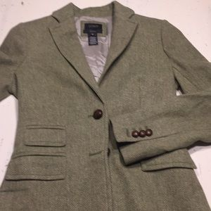 J.crew hacking jacket tweed green 2T